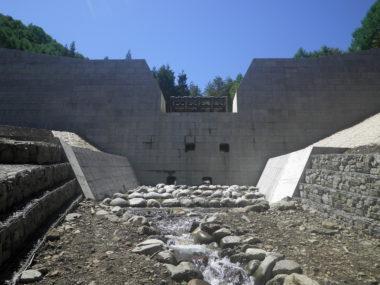 ヨキトギ川砂防えん堤設計 施工後1