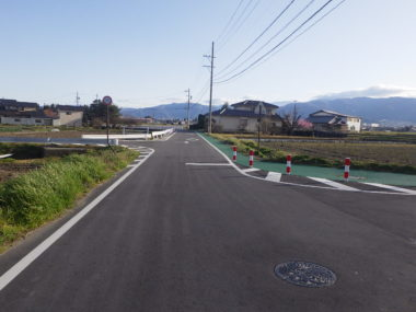 市道7055号線道路詳細設計 施工後