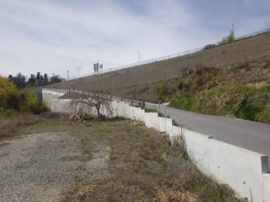 (国)256号改良に伴う補強土詳細設計 上久堅 施工後1