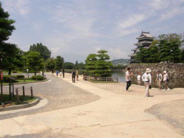 松本城園路改修設計 施工前