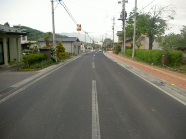 (主)別所丸子線道路詳細設計 施工後