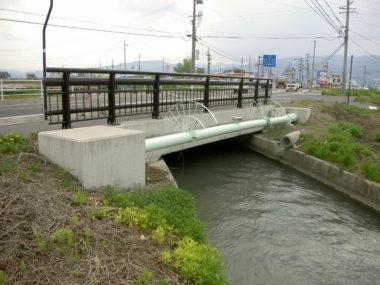 上水道水管橋詳細設計 施工後