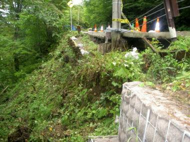 (一)白骨温泉線道路災害復旧 施工前