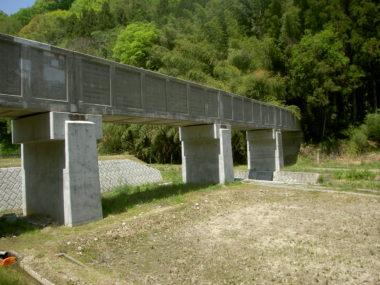 胡麻目沢水路橋耐震補強設計 施工後