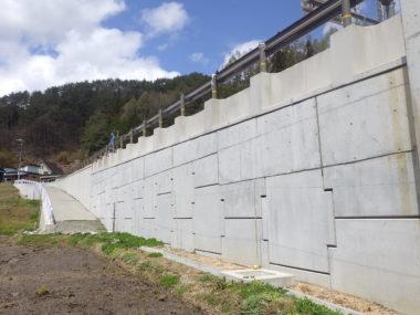 (国)418号改良に伴う補強土予備詳細詳細設計 軒川 施工後2