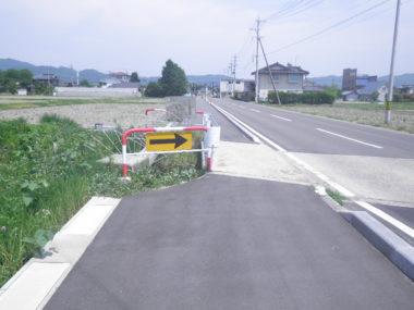 村道1-4号線歩道橋拡幅設計 村道1-4号拡幅 施工前