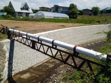 (一)阿久川護岸復旧設計 室内2号橋上 施工後