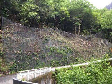 槍ヶ岳矢村線道路災害防除設計 施工後